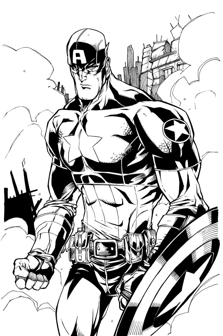 Image Result For Captain America Coloring Pages Good