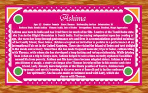 Humanized Thomas and Friends Bio ~ Ashima