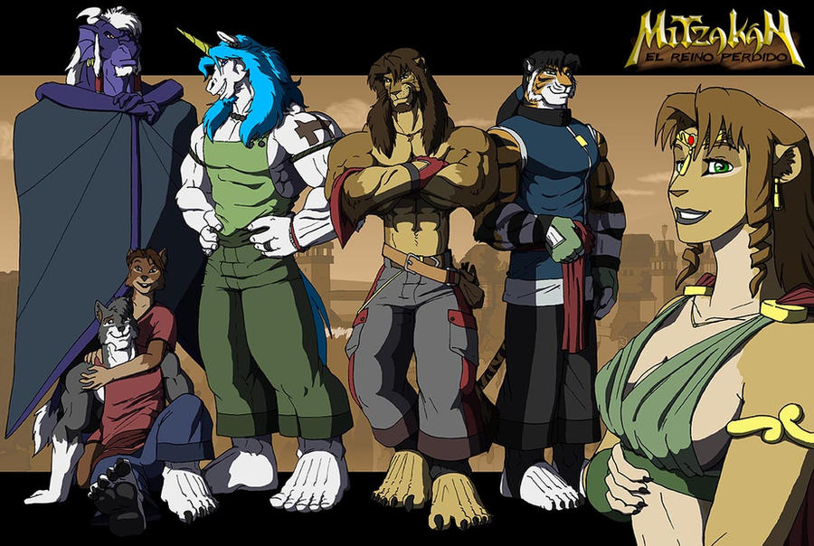 Main characters 2012 by Ohblon