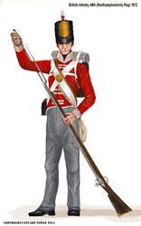 British Infantry 48th (Northamptonshire) Regt 1812