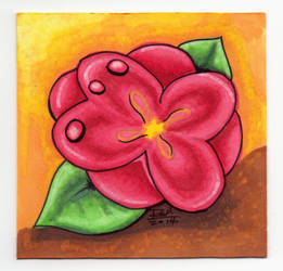 Red Flower Illustration by Mazuir Ross by MazuirRoss