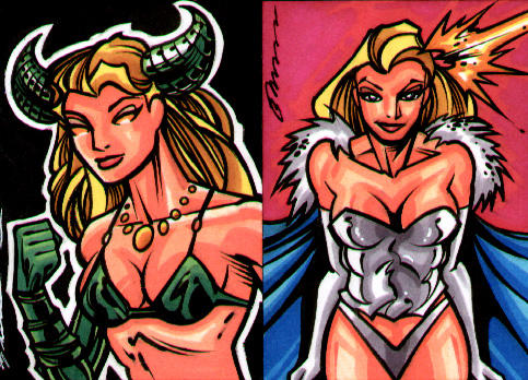 Emma Frost and Magik