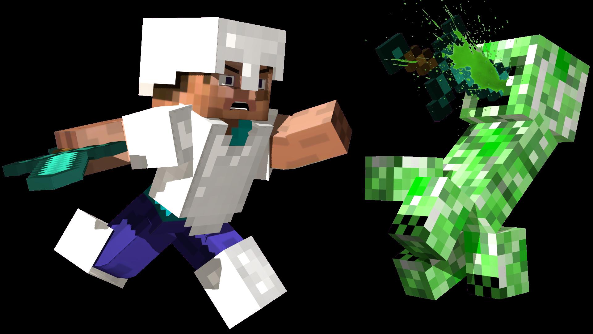 Steve vs the creeper by longsword97 on deviantart - Minecraft creeper and steve ...