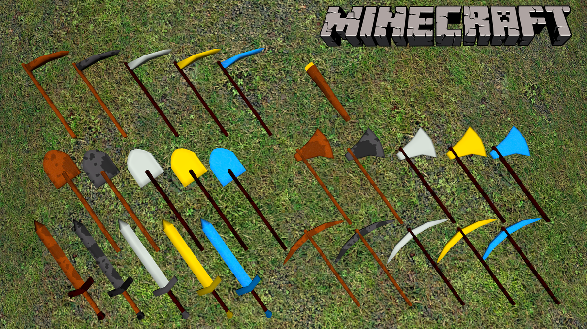 how to create tools in minecraft