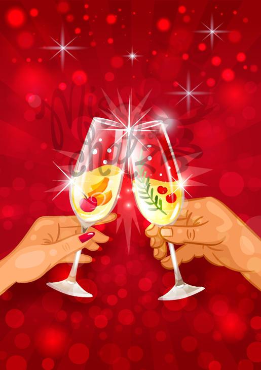 Cheers: Hands toast