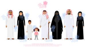 Saudi Arabian Characters Animation