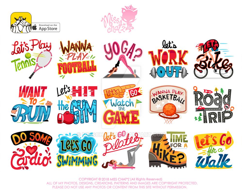 Sporty WuWu App Stickers by MissChatZ