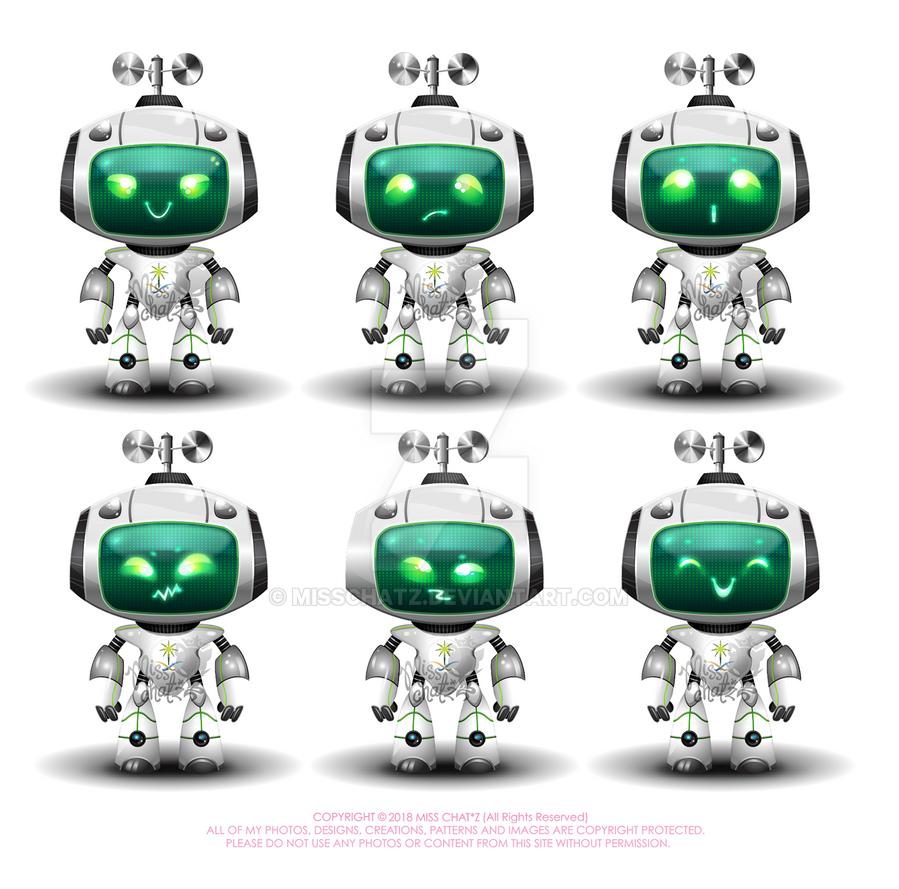 RoboGreen Character by MissChatZ