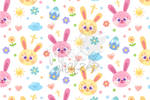 Pastel Easter Bunny Seamless Pattern