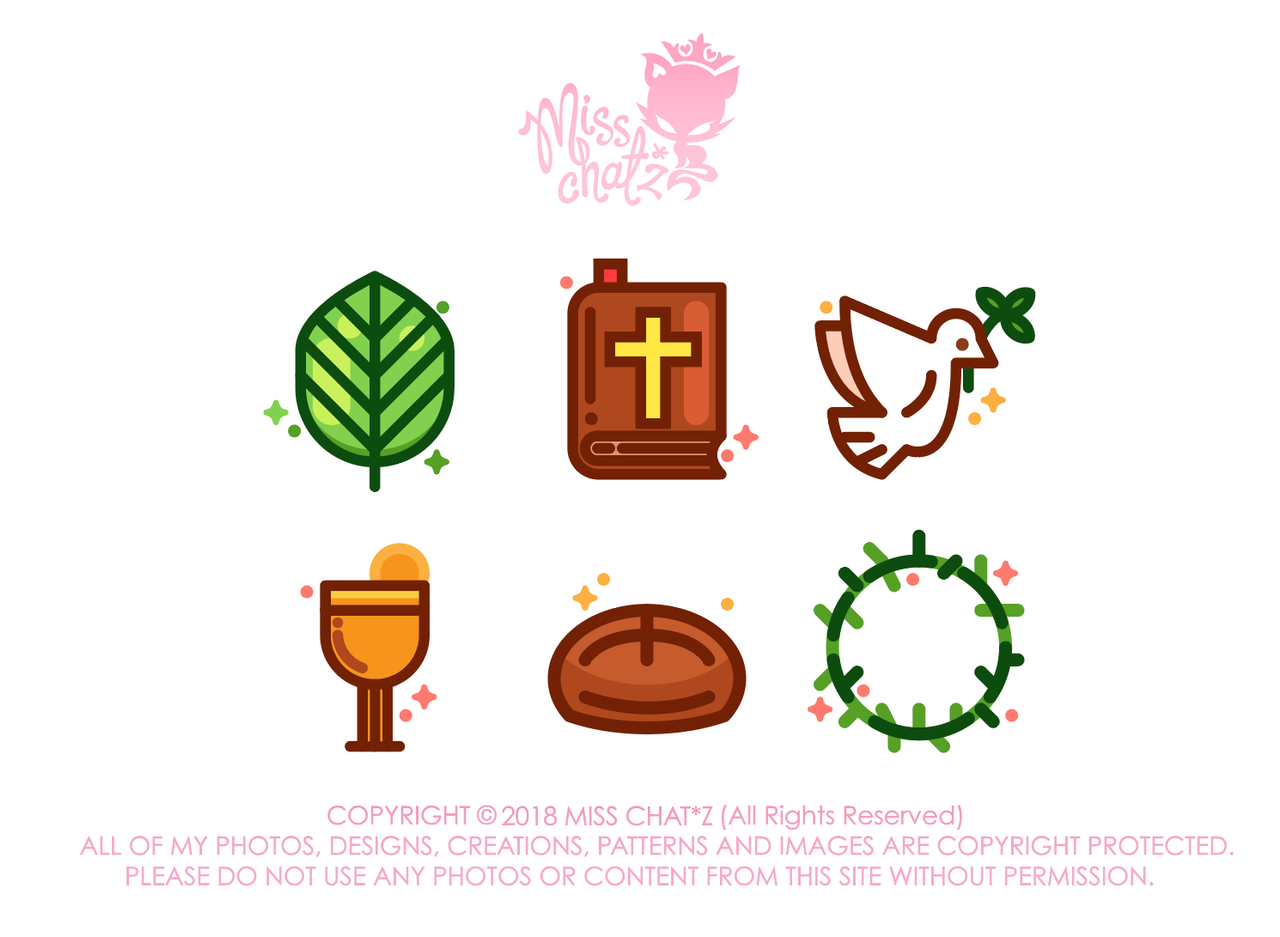 Palm Sunday Icons by MissChatZ