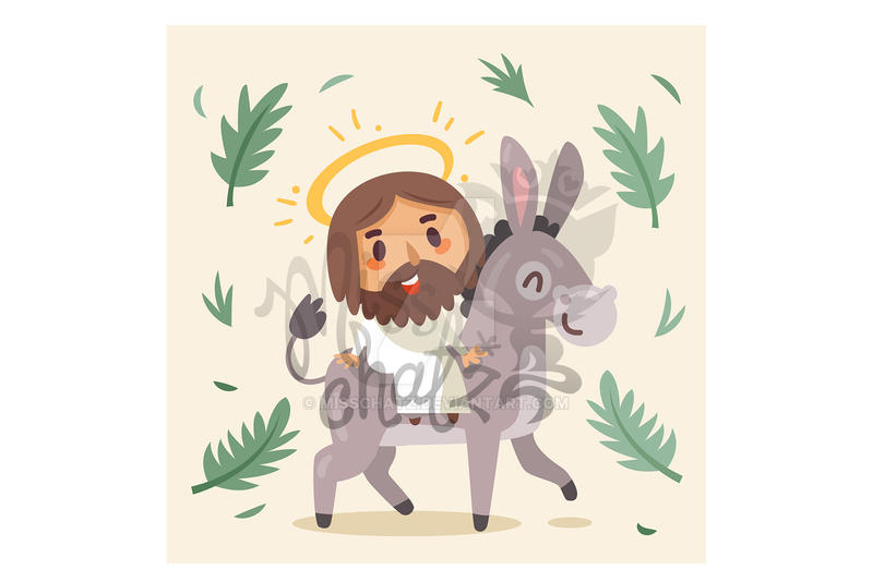 Palm Sunday:Jesus on Donkey