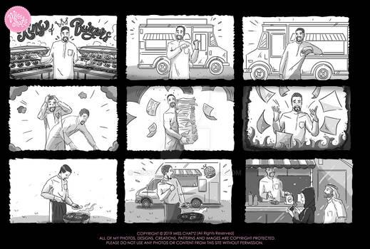King of Burgers Storyboard