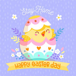 Happy Easter Day Stay Home