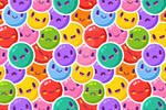 Colorful Emoticons Pattern
