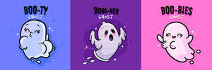 Funny Boo Ghosts by MissChatz