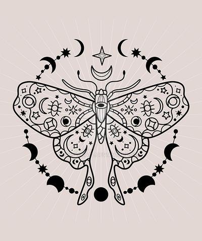 Celestial Moth Vector