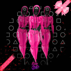 Squid Game's Pink Soldiers