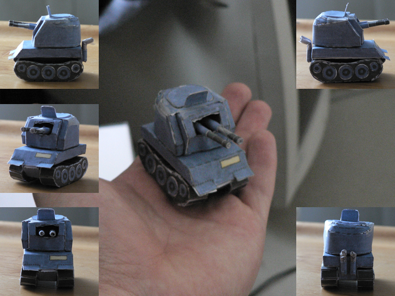Blue Moon anti-air tank by V-PK