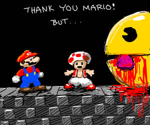 Sorry Mario, but Pac-Man ate the Princess