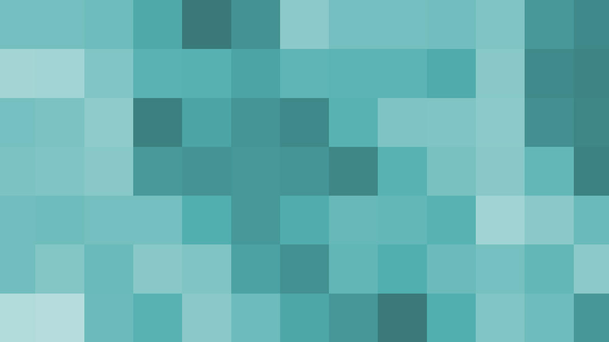 Teal Pixel Blocks by Jayro-Jones