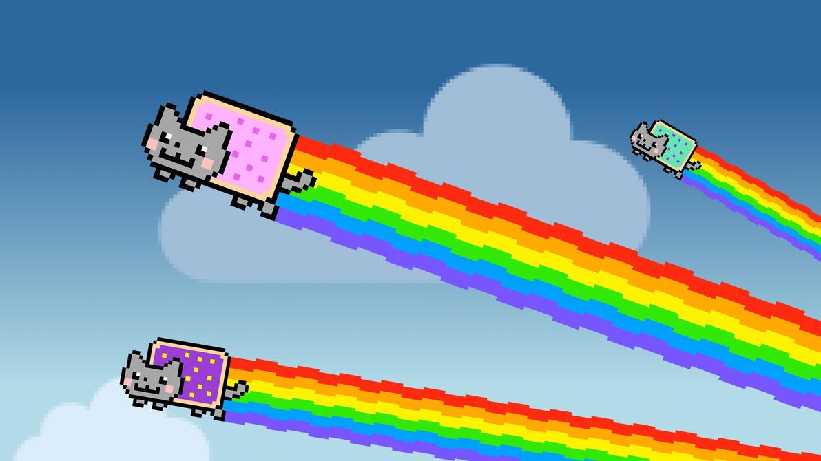 rainbow cat wallpapers - photo #19