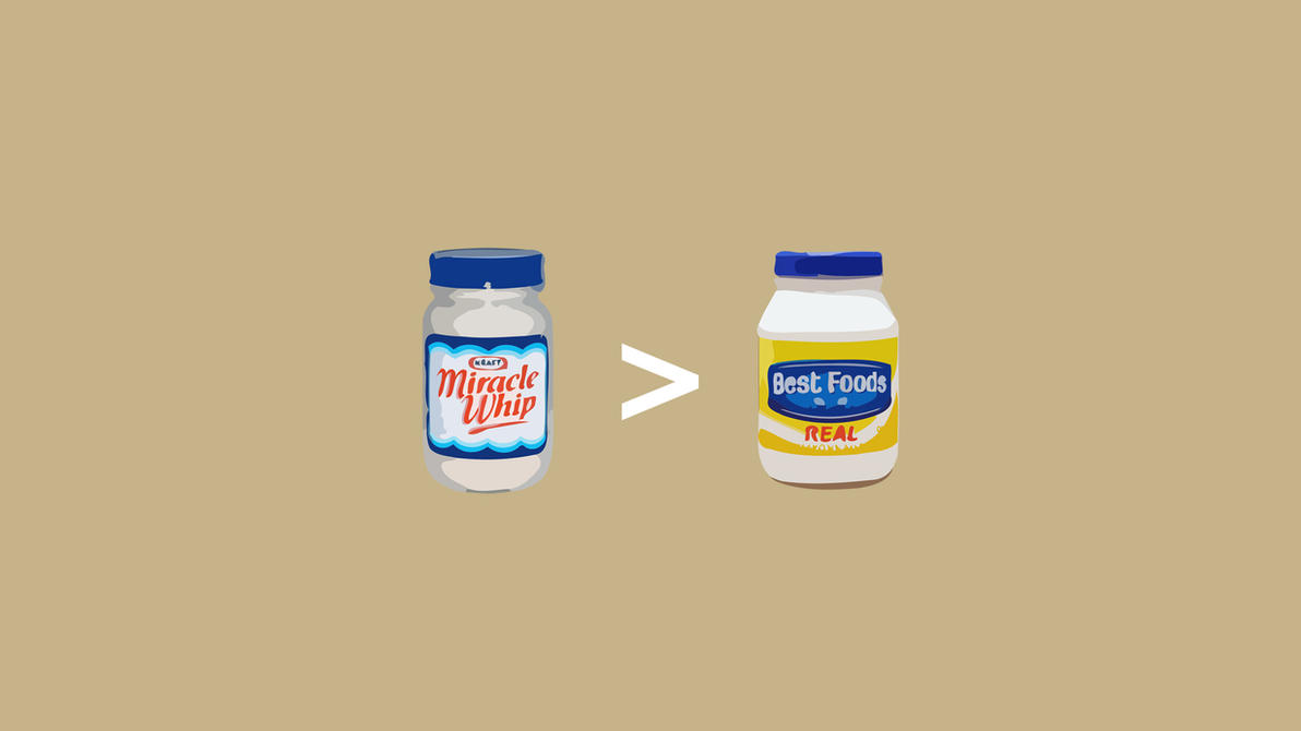 miracle whip vs mayonnaise by jayro jones on deviantart