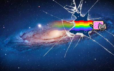 'Nyan Cat Galaxy' Wallpaper by Jayro-Jones