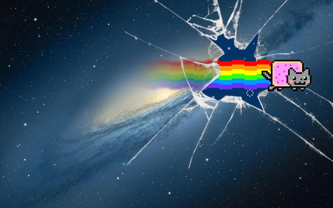 ''Nyan Cat Mountain Lion' Wallpaper by Jayro-Jones