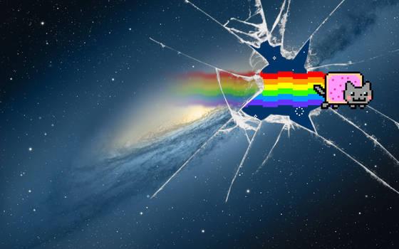 ''Nyan Cat Mountain Lion' Wallpaper