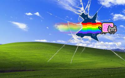 ''Nyan Cat XP'' Wallpaper