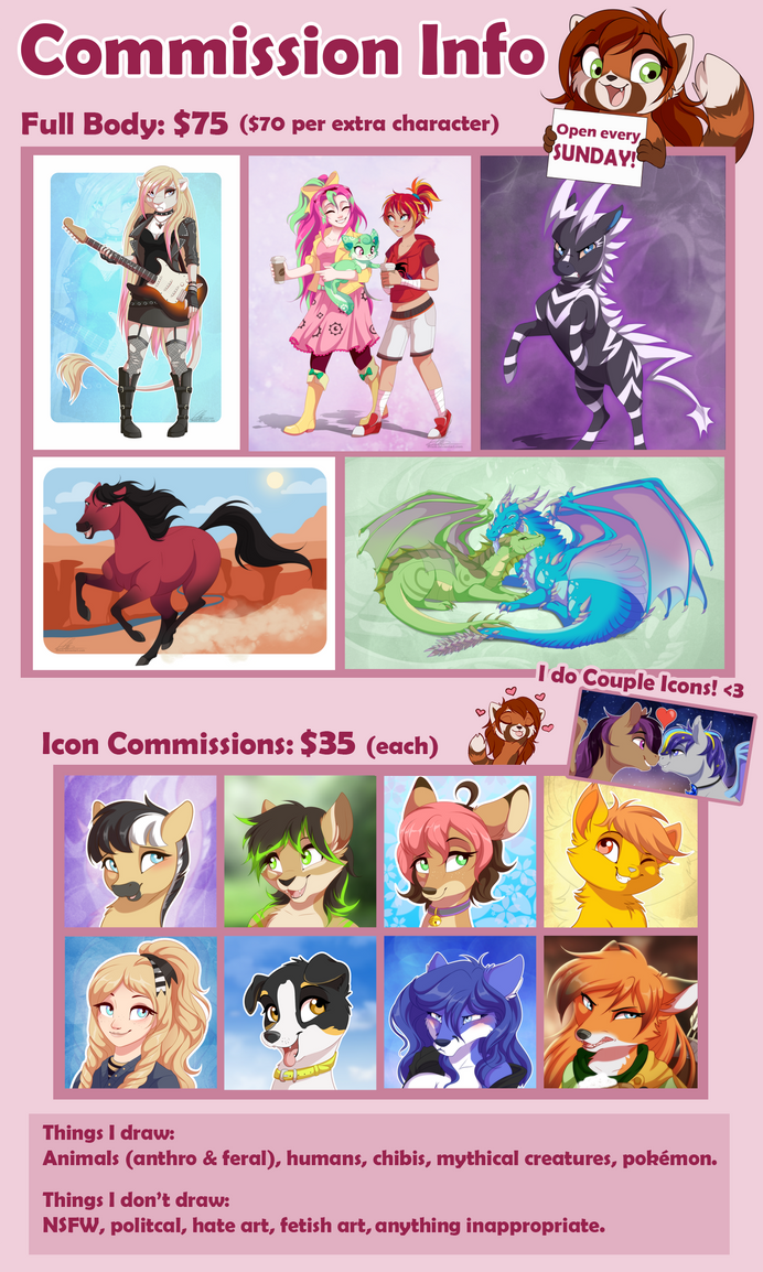 Commission Info (CLOSED) by DVixie