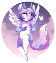 [Commission] Aura the Celestial FoxDeer by DVixie