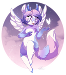 [Commission] Aura the Celestial FoxDeer