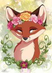 Flower Fox by DVixie