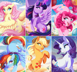 The Mane 6 by DVixie