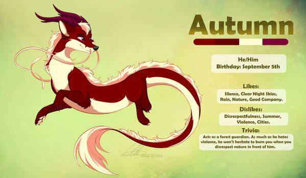 [commission] Autumn the fox dragon