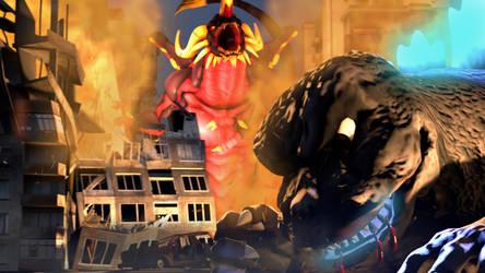 Godzilla VS Bagan