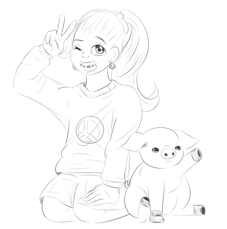 Mabel and Waddles by rainbowkes