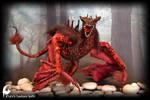 Red Dragon poseable art doll by zlatafantasydolls