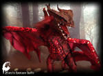 Red Dragon poseable toy by zlatafantasydolls