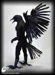 BJD Furry Crow, Fantasy animal bjd, Handma by zlatafantasydolls