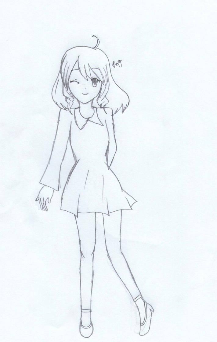 Full body drawing by rinarinsachiko
