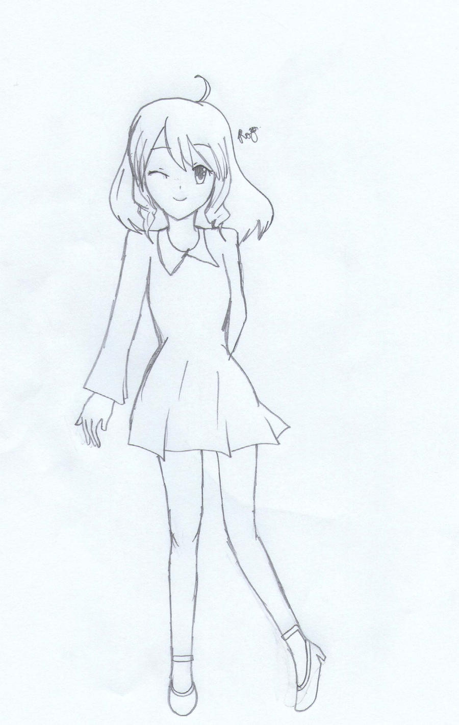 Full body drawing by rinarinsachiko on deviantart