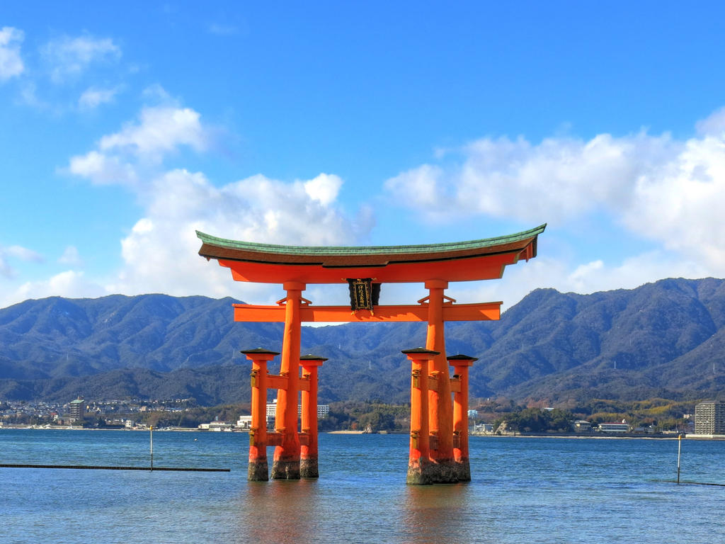 Torii at Itsukushima Shrine, Miyajima by g-hennux