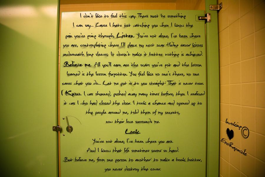 Bathroom Stall Poems hope is written on bathroom stallsinvoking on deviantart