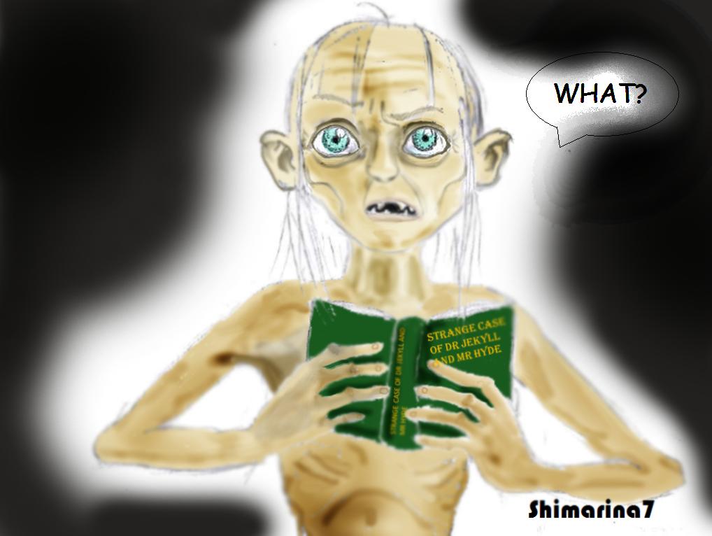 Gollum reading Strange case Dr Jekyll and Mr Hyde by Shimarina7 on  DeviantArt
