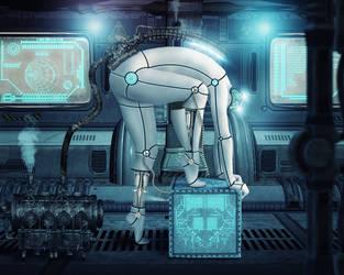 Female Cyborg by WesterArt