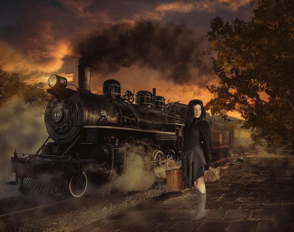 Steam Train by WesterArt