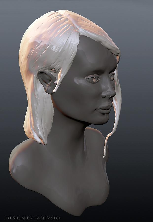 female head study by fantasio
