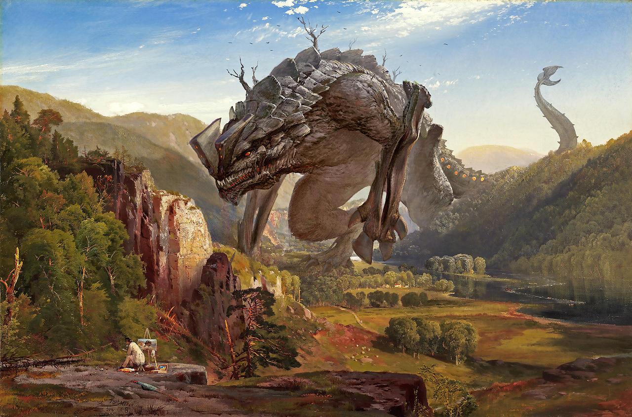 A Kaiju Evening at the Juniata by fantasio